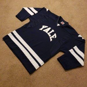 promo code 9c471 a3edd Men's Vintage Yale Blue White Hockey Jersey XL